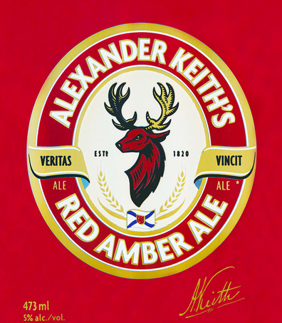 Photo of Alexander Keith's Red Beer Label