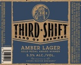 Third Shift Amber Lager Beer