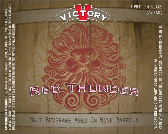 Photo of Victory Red Thunder Beer Label