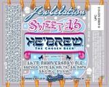 Hebrew Jewbelation Sweet 16 Beer