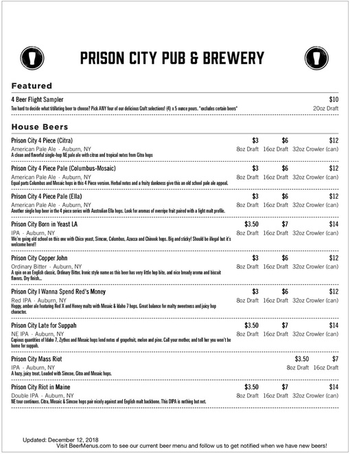 Beer menu template 7